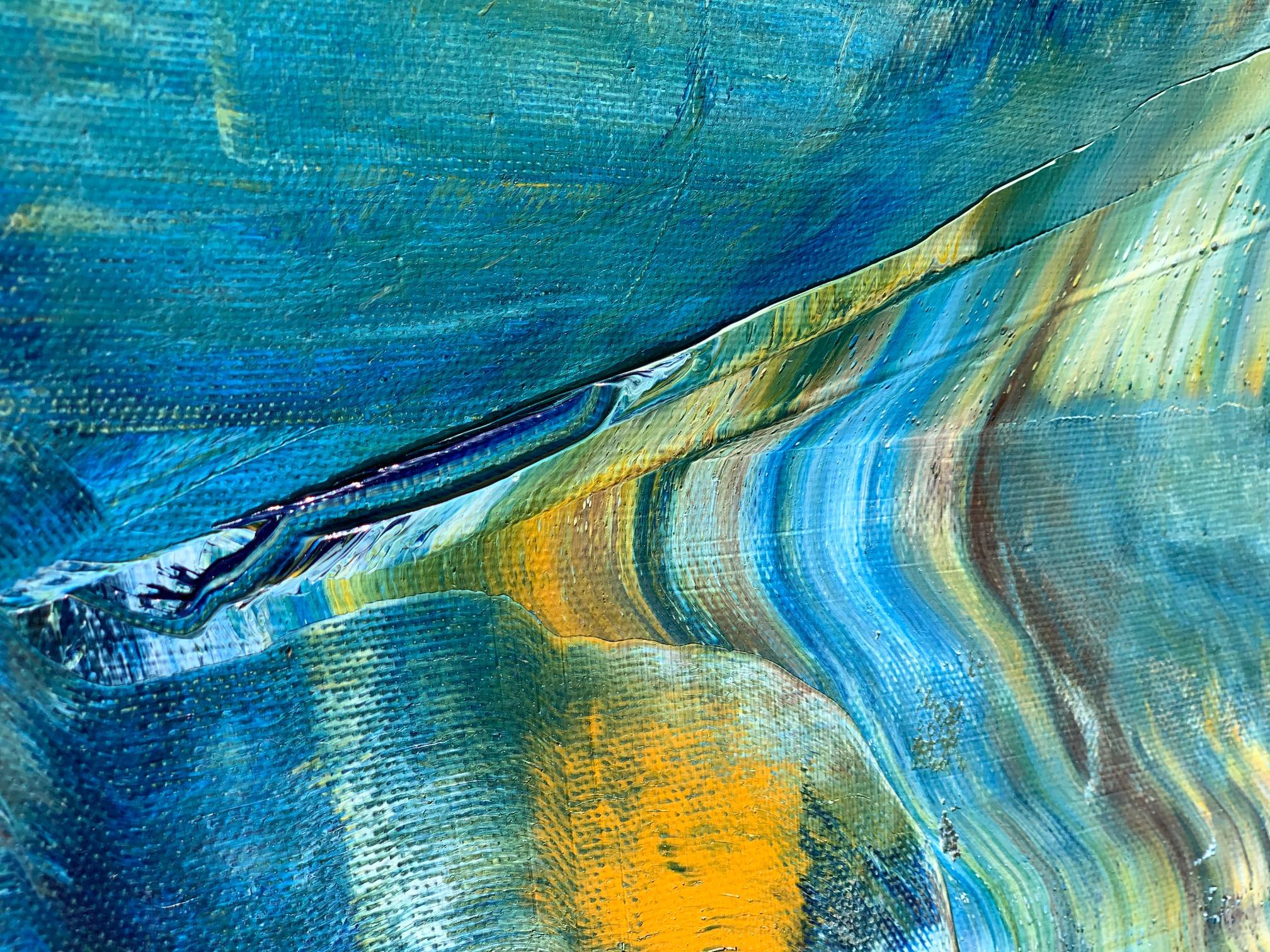 Голубая картина на холсте море небо 2021-14