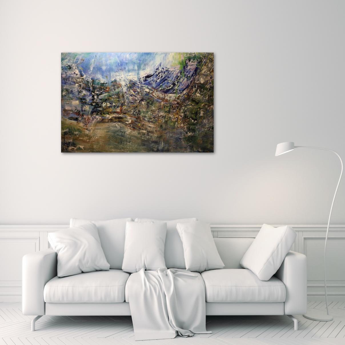Выставочная картина Большая картина маслом холст на подрамнике размер 100Х150 2019-III-50. В наличии