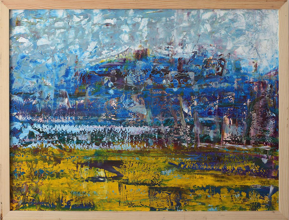 Абстрактный пейзаж маслом. Картины для интерьера.
