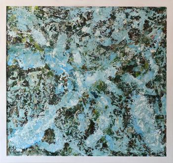 Blue Oil Painting original 70Х80 №15