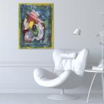 Абстрактные картины женщин Купить картину на кухню 2020-I-12. В наличии