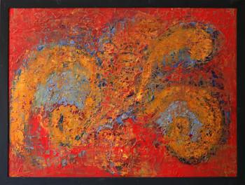 Картины для интерьера красный и голубой Восток.