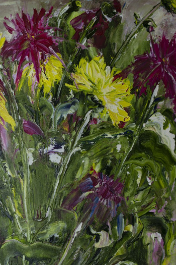 Chrizanthemums oil. SOLD