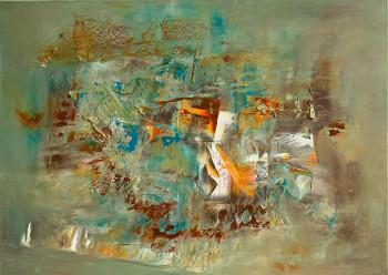 Картина маслом на холсте в пастельных тонах 2021-28