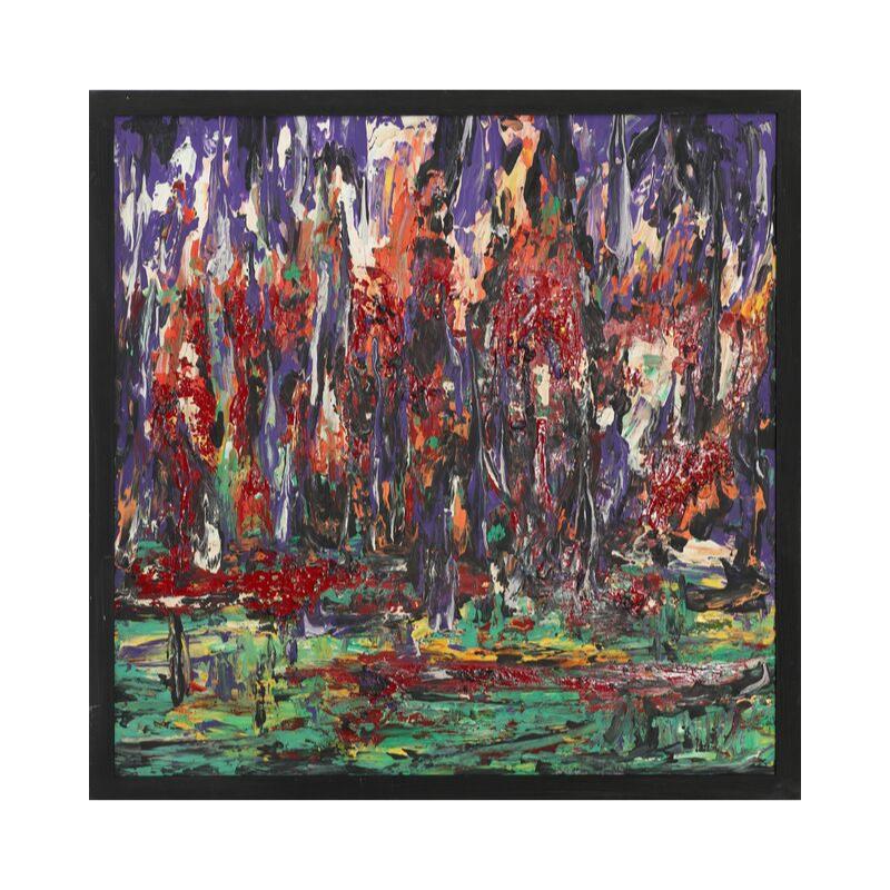 Картина маслом в раме абстрактный пейзаж III-32