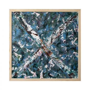 Abstract painting by Lora Pavlova III-33