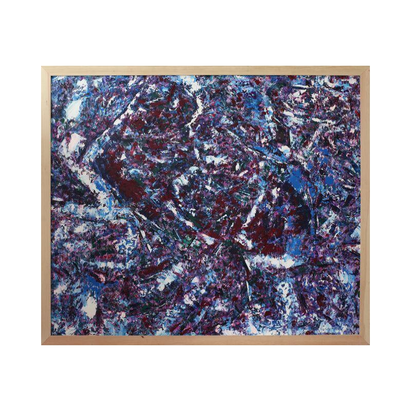 Картина маслом в раме абстрактный пейзаж III-36