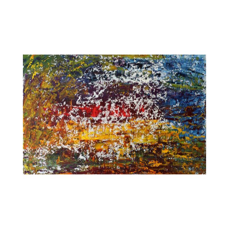 ПРОДАНА Картина маслом в раме абстрактный пейзаж III-37