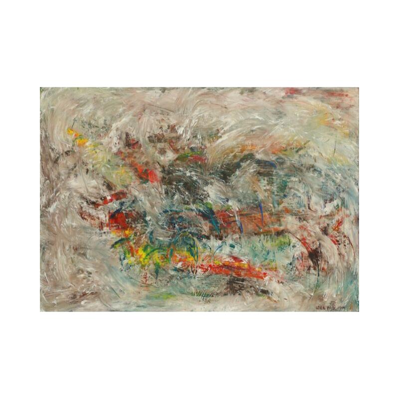 Картина маслом в голубых тонах 70*80 III-40