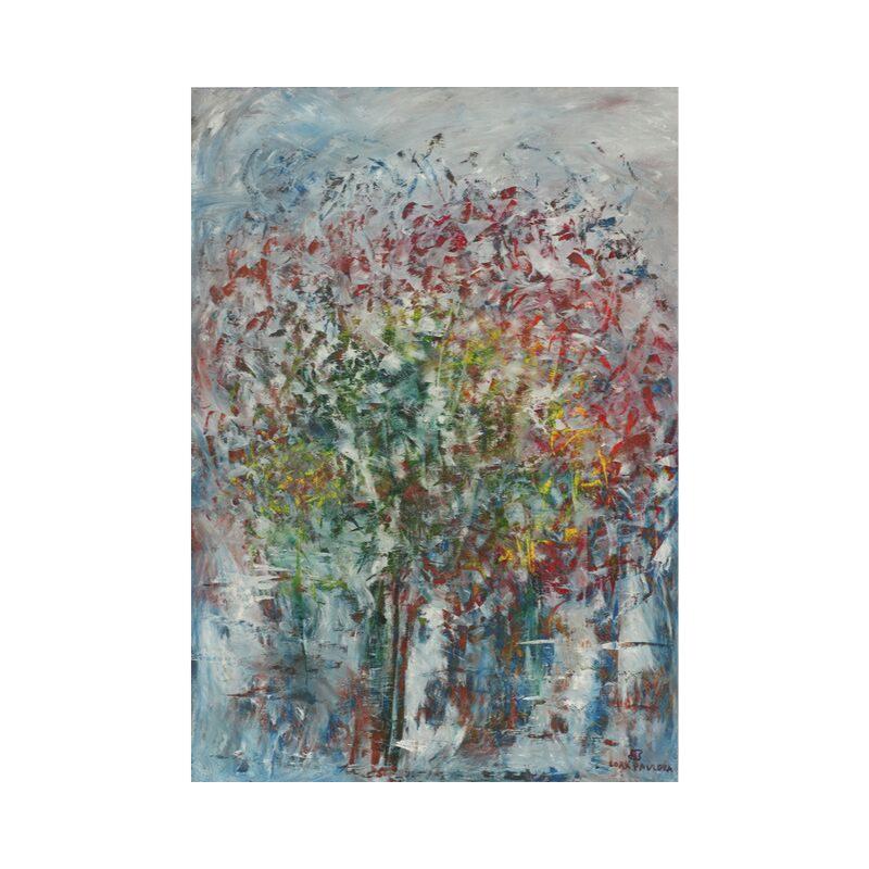 Картина маслом в раме абстрактный пейзаж III-41)
