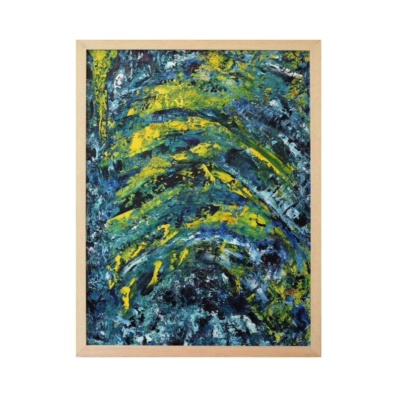 Картина маслом в раме абстрактный пейзаж III-44