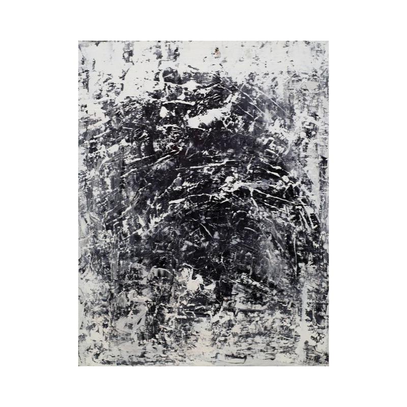 ПРОДАНА Картина маслом в раме абстрактный пейзаж III-46