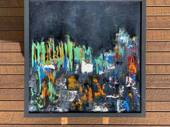 Частная коллекция. Квадратная картина маслом Абстрактное искусство 2021-11