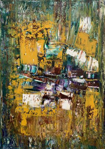 Современная картина маслом Весенняя симфония  2021-8 Масло, холст 50X70cм.