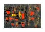 Черный квадрат красный картина маслом в интерьер 2021-24