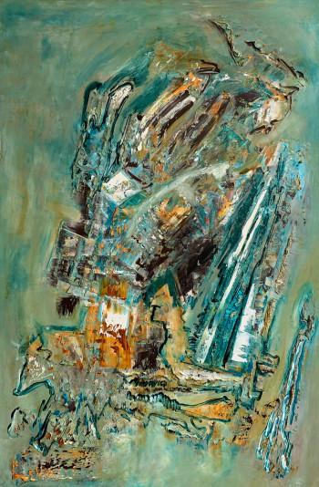 Картина маслом на холсте в пастельных тонах 2021-27