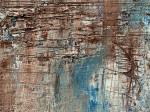 Бежевый голубой картина маслом квадратная 40Х40 2021-34