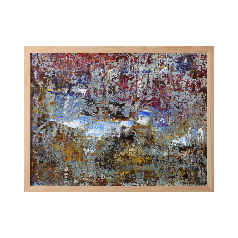 Картина маслом абстрактный ландшафт 60*80 №8(II)