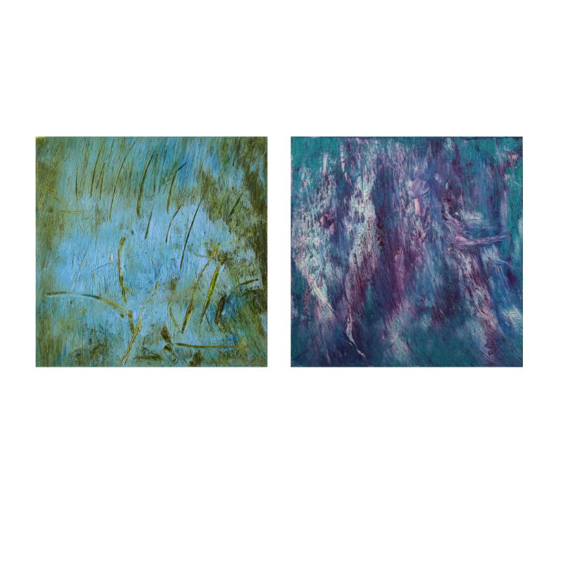 ПРОДАН Сет из двух картин маслом холст на подрамнике 30Х30 III-56-55