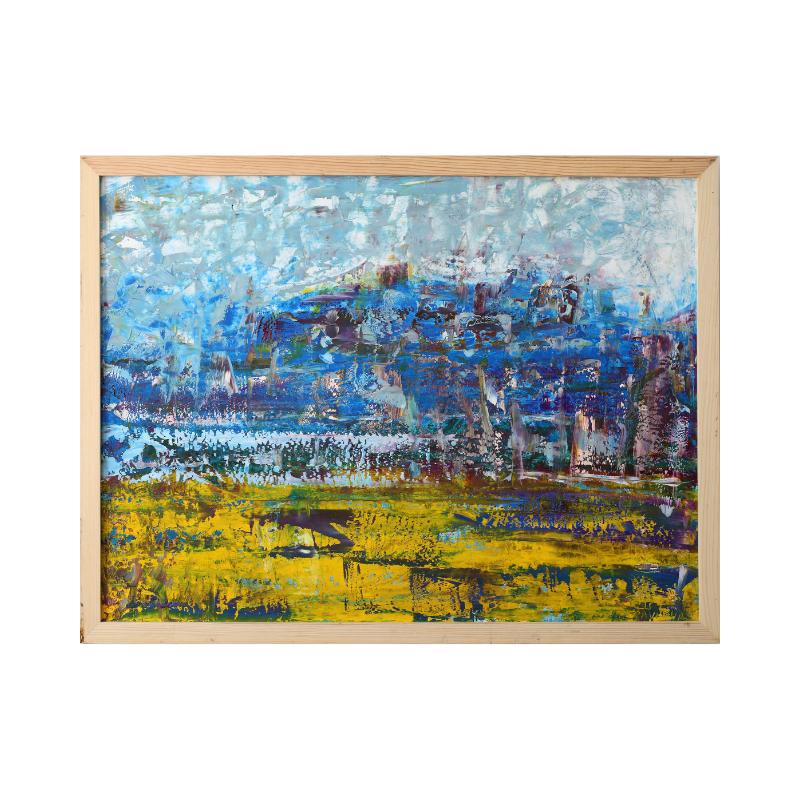 Картина маслом абстрактный ландшафт 60*80 №7(II)