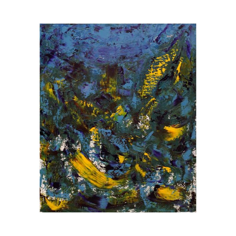 Картина маслом в голубых тонах 70*80 III-42