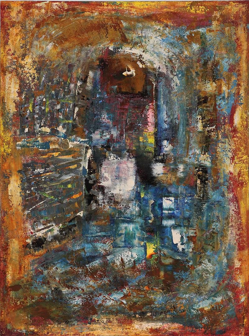 2020-I-11 Картина маслом абстракция купить в Минске современную картину