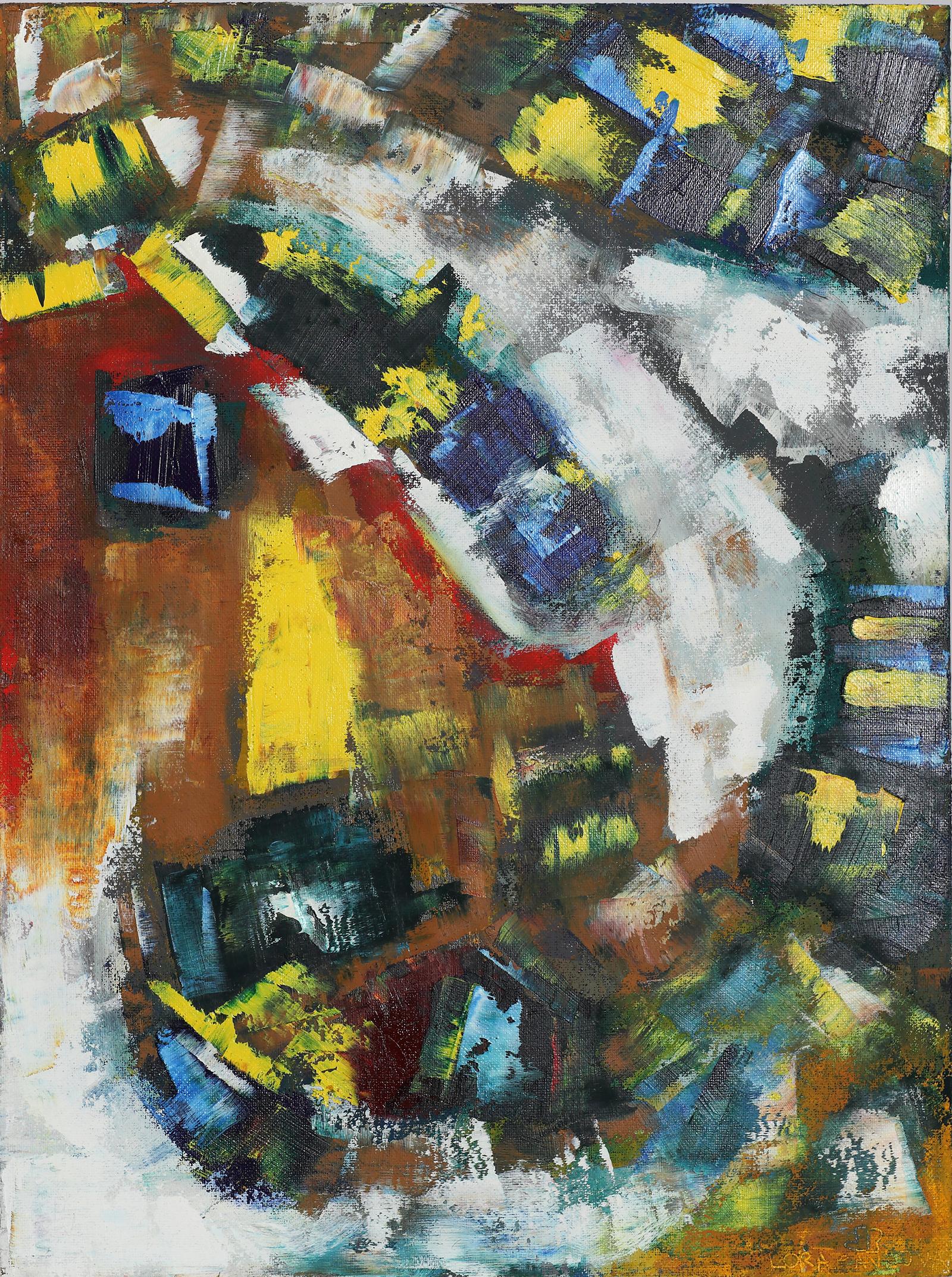2020-I-14 Картина маслом абстракция в ваш дом купить у современного художника в Минске