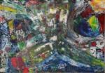 Картина масло Абстракция Париж 2020-I-16. В наличии