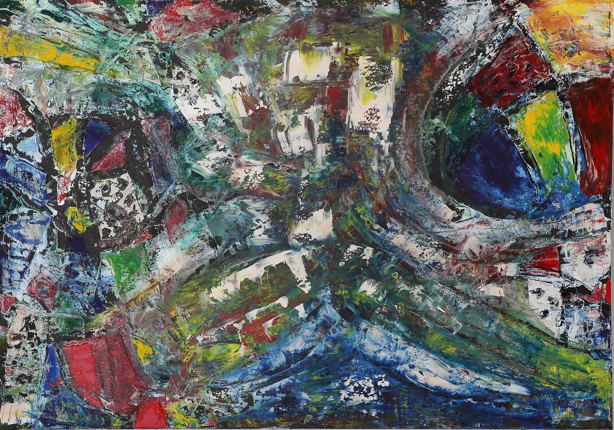 2020-I-16 Купить большую картину маслом в гостиную Современное искусство Абстрактная картина маслом