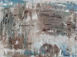 Абстрактный пейзаж маслом 2020-I-19