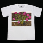 Арт-футболка с картиной Пионы