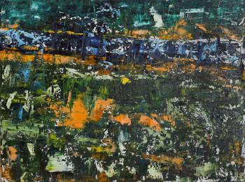 Картины купить в интернет Горизонтальная картина в интерьер Абстрактный пейзаж 2020-I-15. Продается